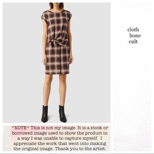 ALLSAINTS Red Heny Check DRESS ✨NWOT✨